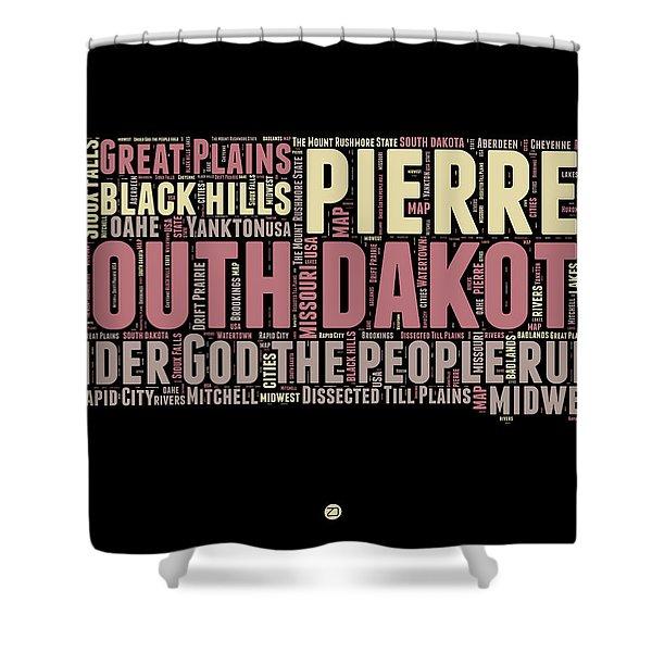 South Dakota Word Cloud 2 Shower Curtain