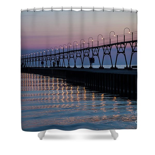 South Haven Lighthouse Shower Curtain