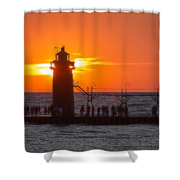 South Haven Michigan Sunset Shower Curtain