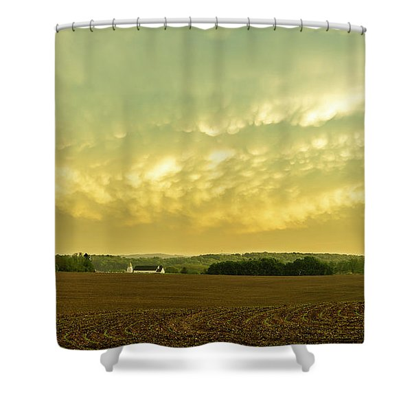 Thunder Storm Over A Pennsylvania Farm Shower Curtain