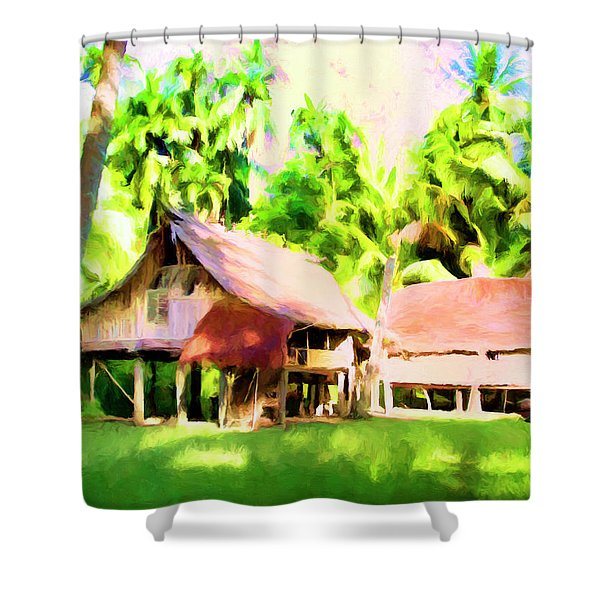 South Pacific Idyll Shower Curtain