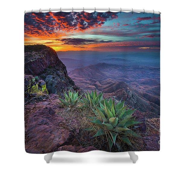 South Rim Sunrise Shower Curtain