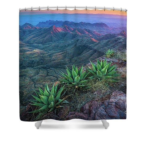 South Rim Sunset Shower Curtain