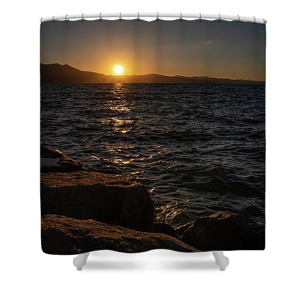 South Shore Sunset Shower Curtain