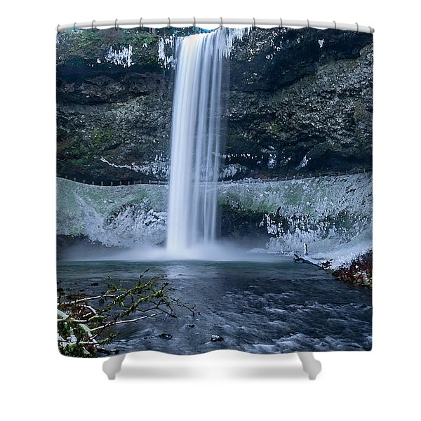 South Silver Falls Shower Curtain
