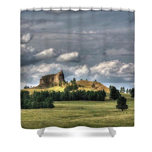 Belltower Butte Shower Curtain