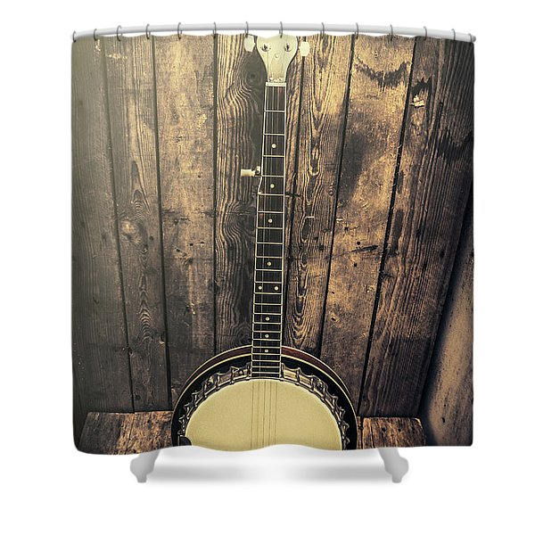 Southern Bluegrass Music Shower Curtain