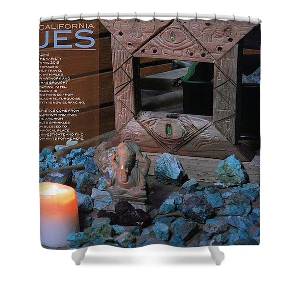Southern California Blues Shower Curtain