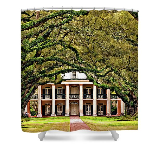 Southern Class Painted Shower Curtain