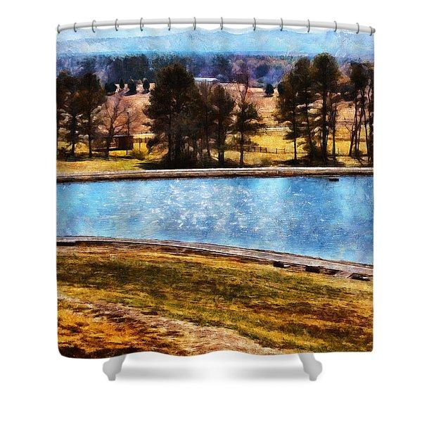 Southern Farmlands Shower Curtain
