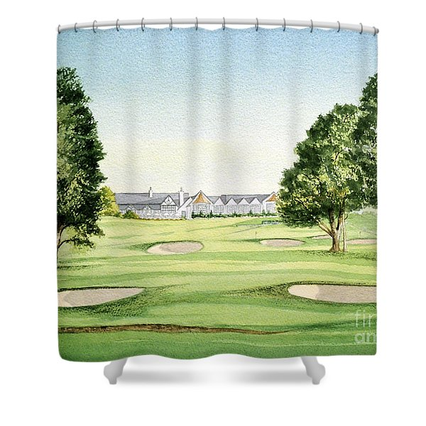 Southern Hills Golf Course 18th Hole Shower Curtain