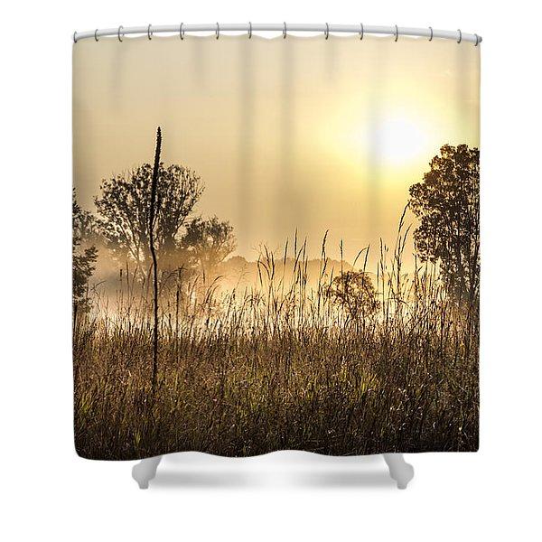 Southern Michigan Foggy Morning  Shower Curtain
