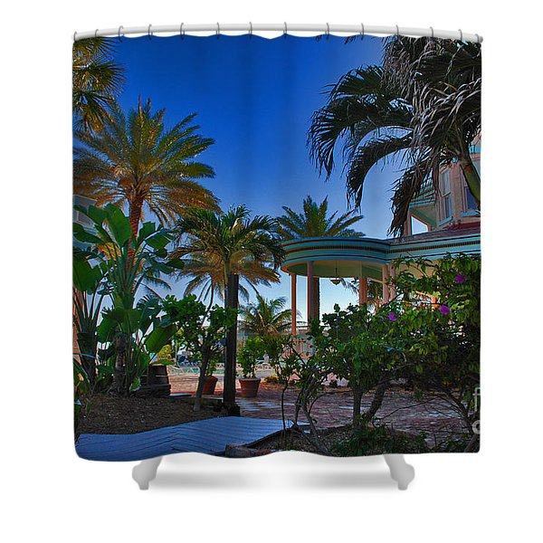 Southernmost Lush Garden In Key West Shower Curtain