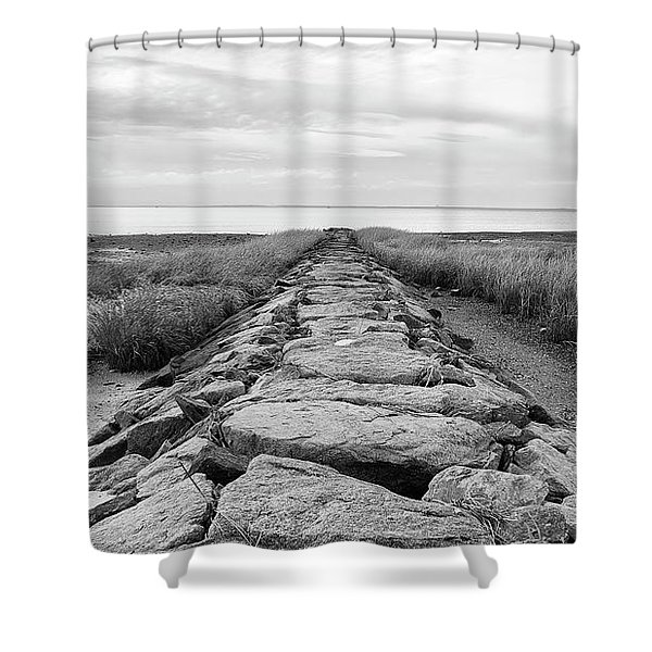 Southport Beach Jetty Shower Curtain