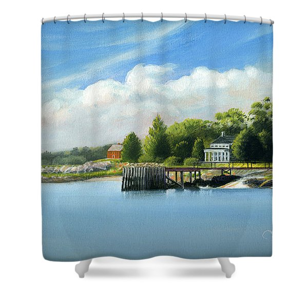 Southport Harbor Shower Curtain