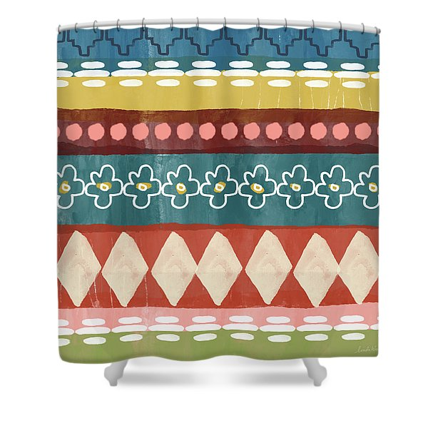 Southwest 3- Art By Linda Woods Shower Curtain