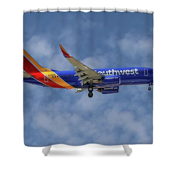 Southwest Airlines Boeing 737-76n 1 Shower Curtain