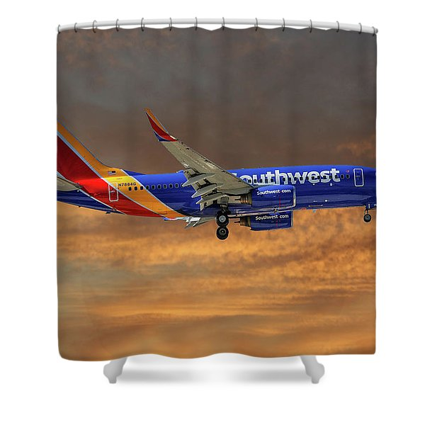 Southwest Airlines Boeing 737-76n 3 Shower Curtain