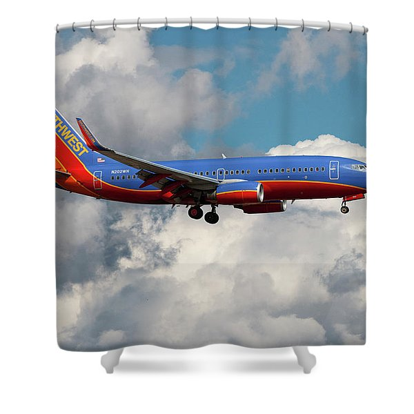 Southwest Airlines Boeing 737-700 Shower Curtain