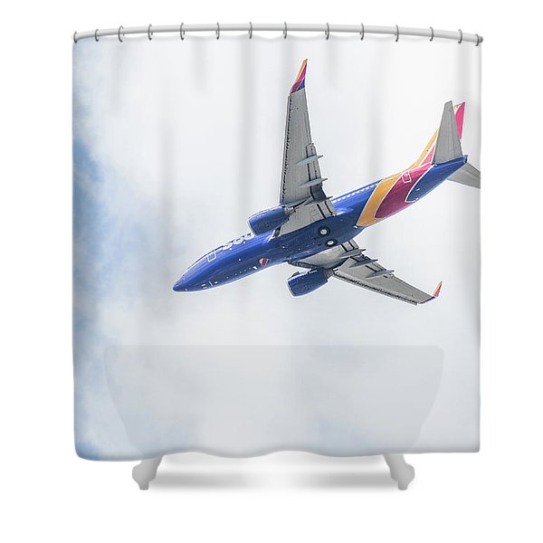 Southwest Airlines With A Heart Shower Curtain