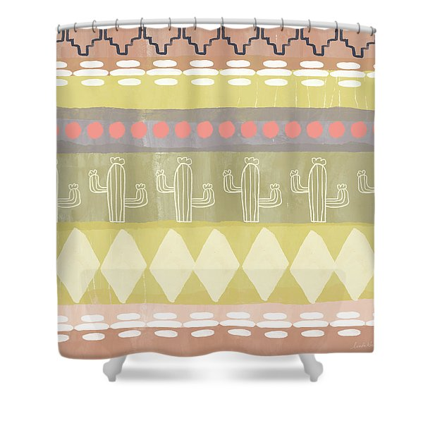 Southwest Cactus Decorative- Art By Linda Woods Shower Curtain