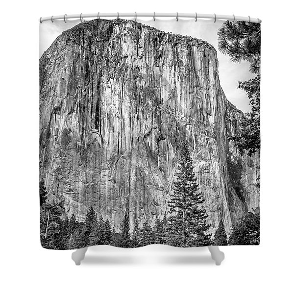 Southwest Face Of El Capitan From Yosemite Valley Shower Curtain