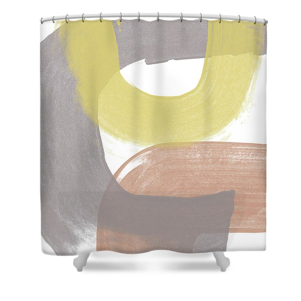 Southwest Modern Brushstrokes 2- Abstract Art By Linda Woods Shower Curtain