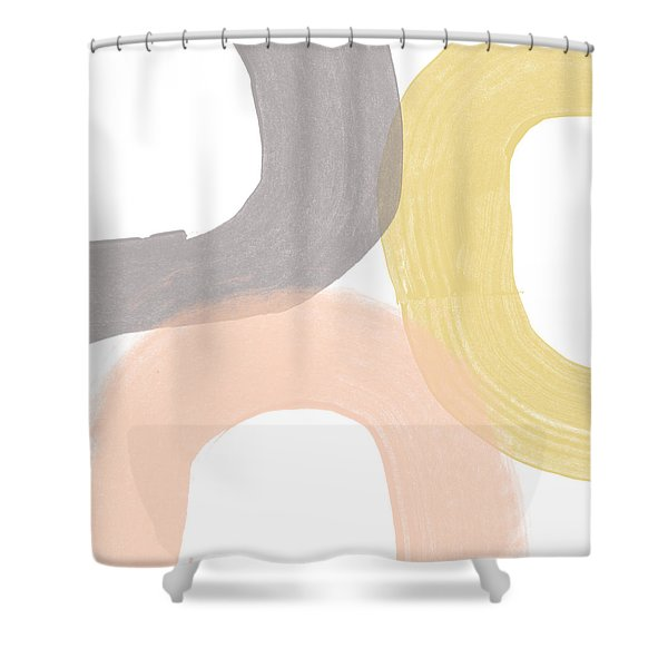 Southwest Modern Brushstrokes - Abstract Art By Linda Woods Shower Curtain