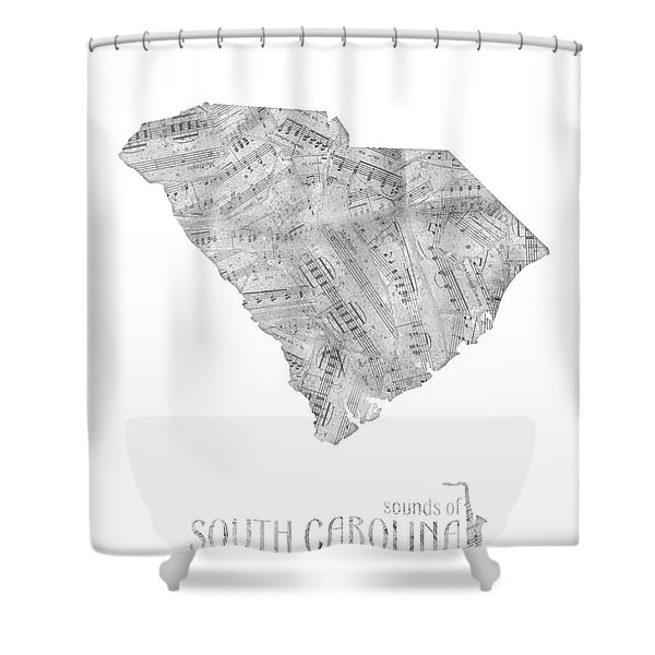 Soutih Carolina Map Music Notes Shower Curtain