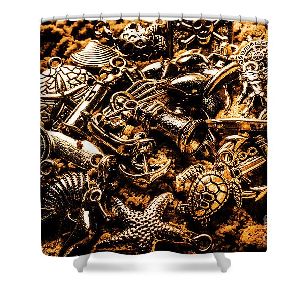 Souvenirs From Sandy Sea Tours Shower Curtain
