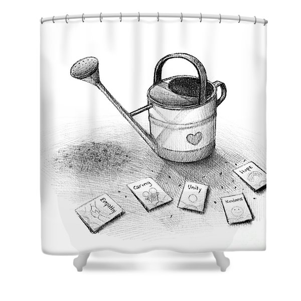Sowing The Seeds Of Love Shower Curtain