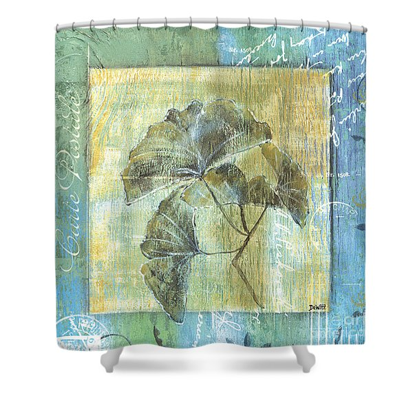 Spa Gingko Postcard  2 Shower Curtain