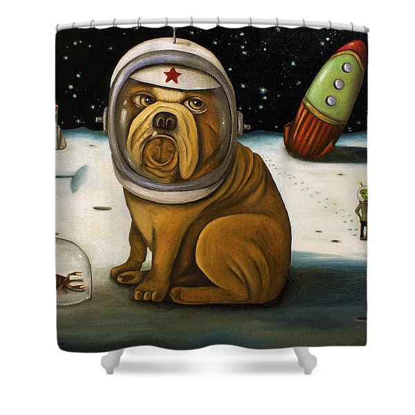 Space Crash Shower Curtain