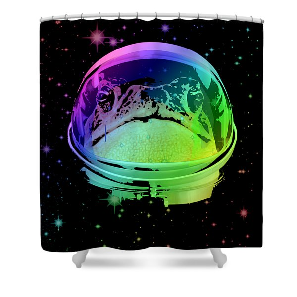 Space Frog Shower Curtain