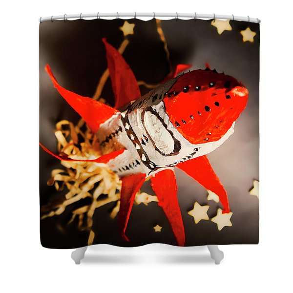 Space Launch To Seek And Discover Shower Curtain
