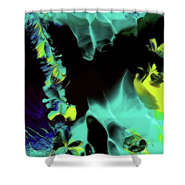 Space Vines Shower Curtain