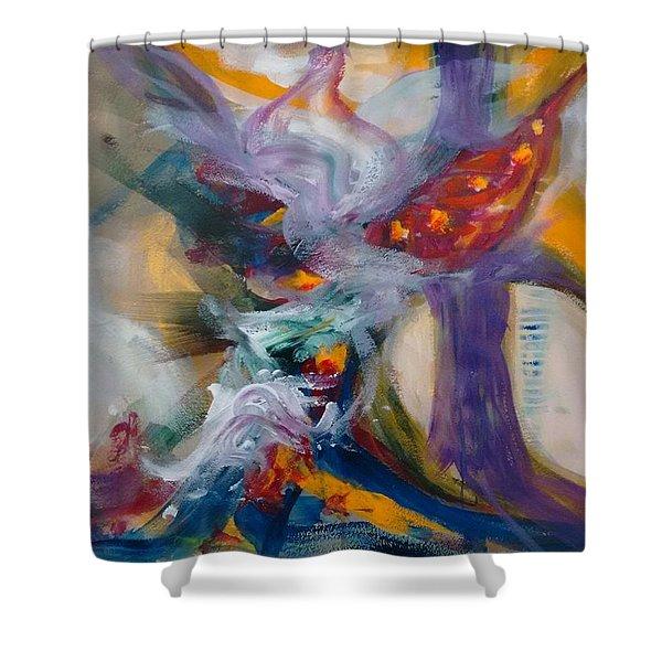 Spacial Encounters Shower Curtain