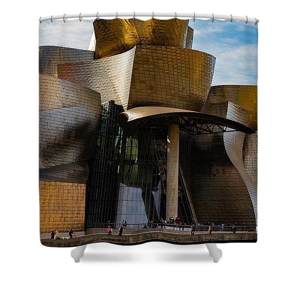 The Guggenheim Museum Spain Bilbao  Shower Curtain
