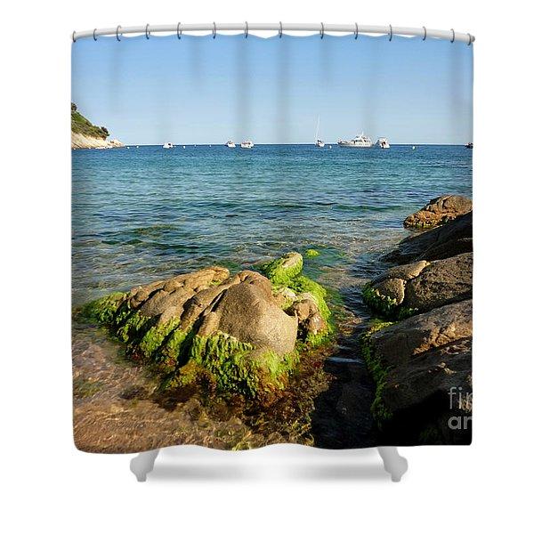 Spanish Beach Shower Curtain