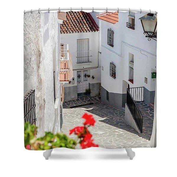 Spanish Street 3 Shower Curtain