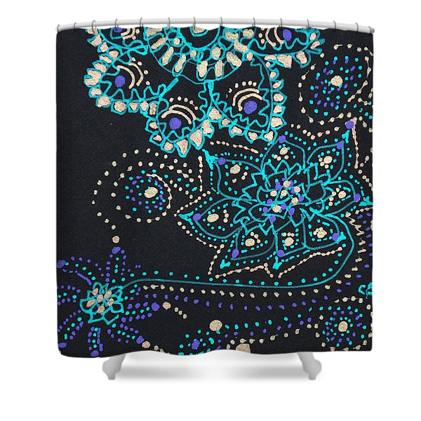 Midnite Sparkle Shower Curtain
