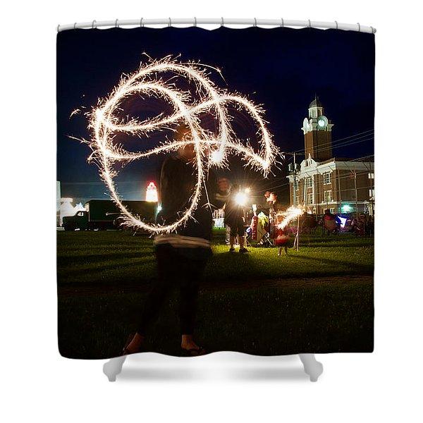 Sparkler Art Shower Curtain