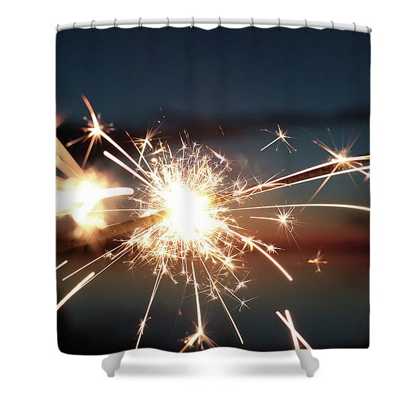 Sparklers After Sunset Shower Curtain