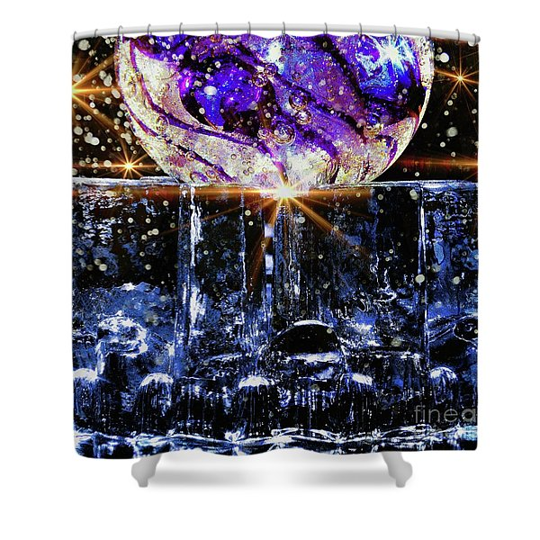 Sparkling Glass Shower Curtain