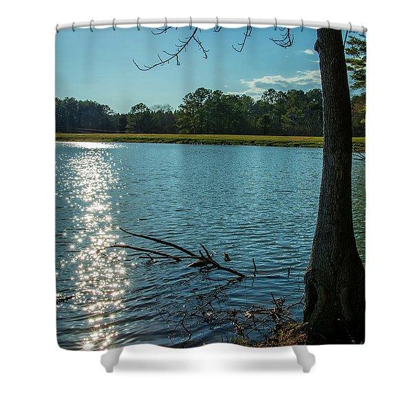 Sparkling Water Shower Curtain
