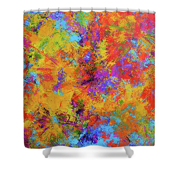 Sparks Of Consciousness Modern Abstract Painting Shower Curtain