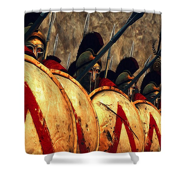 Spartan Army - Wall Of Spears Shower Curtain
