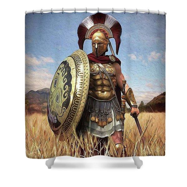 Spartan Hoplite - 02 Shower Curtain