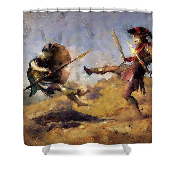 Spartan Hoplite - 12 Shower Curtain