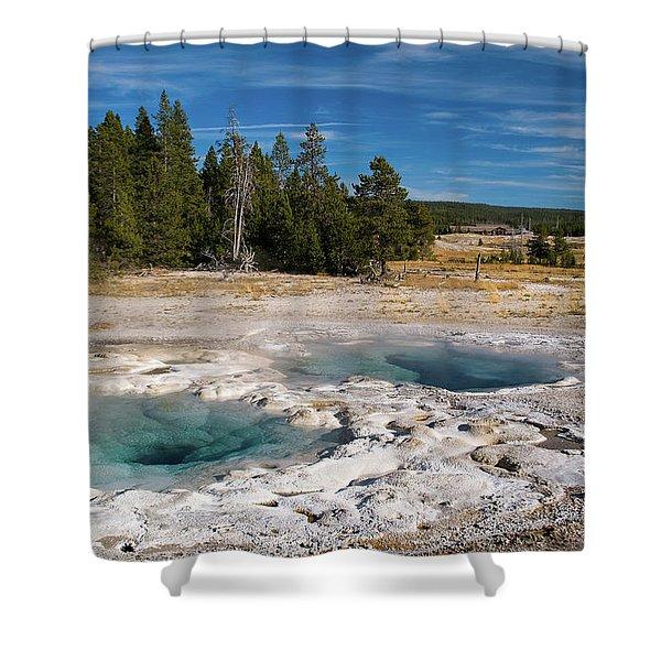 Spasmodic Geyser Shower Curtain